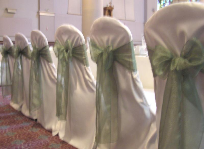 2 Green Chair Covers